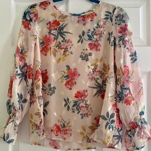 NWT Loft Floral Blouse Size MP Medium Petite